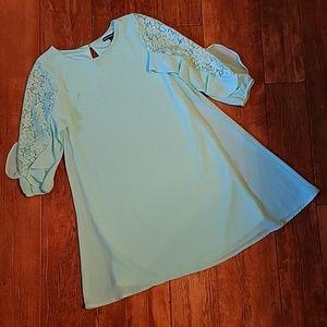 SEQUIN HEARTS Girls Lace Dress size 12 EUC